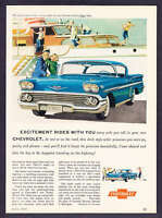 "1958 Chevrolet Impala Sport Coupe ""Excitement Rides with You"" promo print ad"