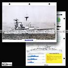 #005.10 Fiche Navire militaire HMS BARHAM ROYAL NAVY Cuirassé 1912 WW1