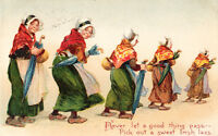 Pick An Irish Ireland Dating Girlfriend Lady Parade Sweet Lass Antique Postcard