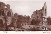 Much Wenlock Abbey Ruins Shropshire Real Photo Postcard