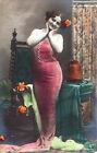 CARTOLINA POSTCARD - NUDO DONNA D'EPOCA NUDE WOMEN VINTAGE 1910 ca. - Riprod. 02