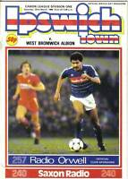 Football Programme>IPSWICH TOWN v WEST BROM Mar 1986