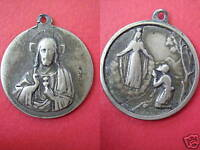 OUR LADY OF THE GUARD & SACRED HEART OF JESUS OLD MEDAL