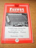 22/04/1961 Nottingham Forest v Leicester City  (Creased & Folded). No obvious fa