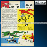 'Petite aviation' TINTIN HERGE - Article Presse 1962 #129