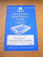 25/04/1966 Everton v Manchester United  (Creased, Score Noted & Marked Inside).