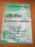 02/09/1978 Celtic v Dundee United [Scottish League Cup]