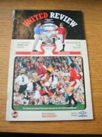23/10/1996 Manchester United v Swindon Town [Football League Cup] (Folded, Creas
