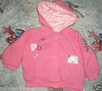 gilet polaire rose pour fille winnie taille 0-3 mois neuf etiqueté