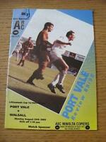 29/08/1989 Port Vale v Walsall [Football League Cup] . No obvious faults, unless