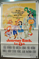 Journey Back To Oz Original SS One Sheet Movie Poster 1974 27 x 40 Rolled Folded