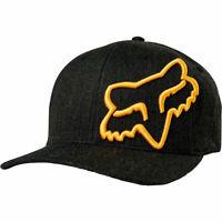Fox Racing Men's Clouded Flexfit Hat Black Headwear Apparel Sports Baseball Cap
