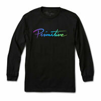 Primitive Skate Men's Nuevo Gradient Long Sleeve T Shirt Black Tee T-Shirts Clot