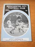 13/09/1972 Manchester City v Valencia [UEFA Cup] [Direc