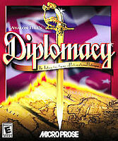 DIPLOMACY Avalon Hill 1999 Microprose Strategy PC CD-ROM Game Hasbro