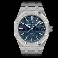 DIDUN Men's Watch Quartz Luxury Steel MIYOTA Sapphire Crystal Royal Oak Army