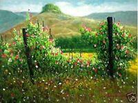 Mountain, Flower Garden Art Philippines Oil Painting