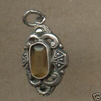1900-1920 Silber Anhänger Mininatur 2 Markasiten+Citrin einfach schön