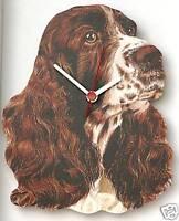Springer Spaniel Wooden Wall Clock Gundog Shooting Gift