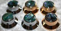 Metallknopf Potiknopf Reglerknopf chrom Abalone Strat