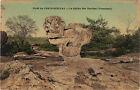 77 - cpa - FONTAINEBLEAU - Le sphinx des druides (Franchard)