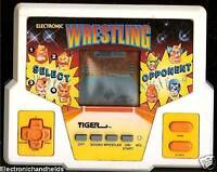 1990s TIGER ELECTRONIC HANDHELD WRESTLING ARCADE POCKET VIDEO GAME TRAVE LCD TOY