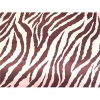 PINK BROWN ZEBRA CHARMEUSE SILKY SATIN FABRIC $6.99/YD