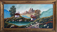 QUADRO OLIO SU TELA PAESAGGIO MONTANO oil painting on canvas mountain landscape