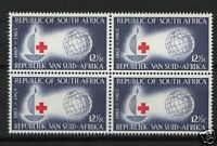 South Africa 1963 SG#226 12.5c Red Cross MNH Block