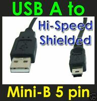 5 x 1m USB 2.0 A to Mini B 5 pin Cable Lead MP3 BULK