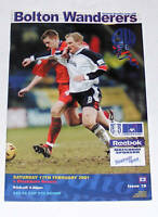 Bolton Wanderers -v- Blackburn Rovers  2000-2001