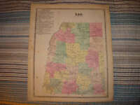 LEE POINT ROCK ONEIDA COUNTY NEW YORK ANTIQUE MAP NR