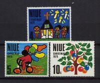 Niue 1975 SG#193-5 Christmas MNH Set