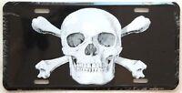 License Plate / Tag: Skull & Crossbones, Embossed
