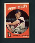 1959 Topps # 202 Roger Maris A's Yankees