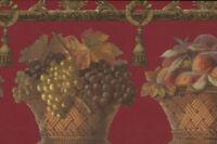 Victorian Fruit Wicker Basket Wallpaper Border