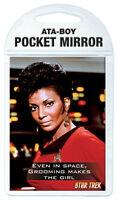 Star Trek TOS Lt. Uhura and Quote Pocket Mirror, NEW