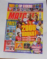 MATCH FOOTBALL MAGAZINE JANUARY 3-9  2005-2006 2006 ROCKS!