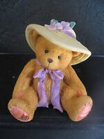 Cherished Teddies  MILLIE Love Me Tender Bear With Straw Hat Mint In Box