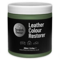DARK GREEN Leather Dye Colour Restorer for Faded and Worn Leather Sofa etc.