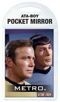 Star Trek TOS Kirk and Spock Metro Pocket Mirror, NEW