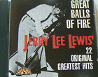GREAT BALLS OF FIRE 22 ORIGINAL HITS BEST OF - LEWIS JERRY LEE (CD)