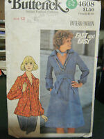 Vintage Butterick #4608 Misses Dress/Top/Sash Pattern - Size 12