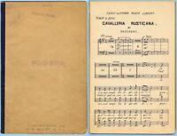 CAVALLERIA RUSTICANA by MASCAGNI (TENOR & BASS SHEET MUSIC - Undated)