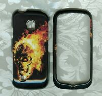 fire flame skull LG Attune MN270 U.S. Cellular phone cover hard case