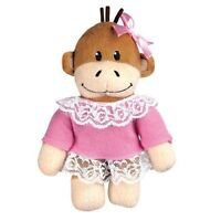 Zanies Monkey Business MINI Friends Squeaker Plush Dog Puppy Toy Tiff  NEW