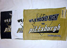 PITTSBURGH PENGUINS RALLY TOWEL GOLD BLACK WHITE FREE SHIP & YOU PICK THE COLOR