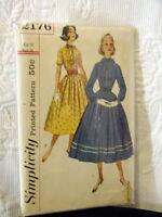 60s Simplicity Dress Pattern 2176 16/36 bust