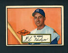 1952 Topps # 36 BLACK BACK Gil Hodges VG/EX cond Brooklyn Dodgers