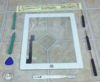 White Apple iPad 3 Touch Screen Glass Digitizer Replacement + 7 piece tool kit